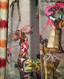 tejido colorido animales