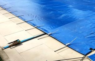 amarres de cobertor e piscina