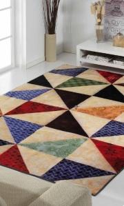 salon alfombra digital triangulos