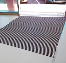 felpudo aluminio y textil